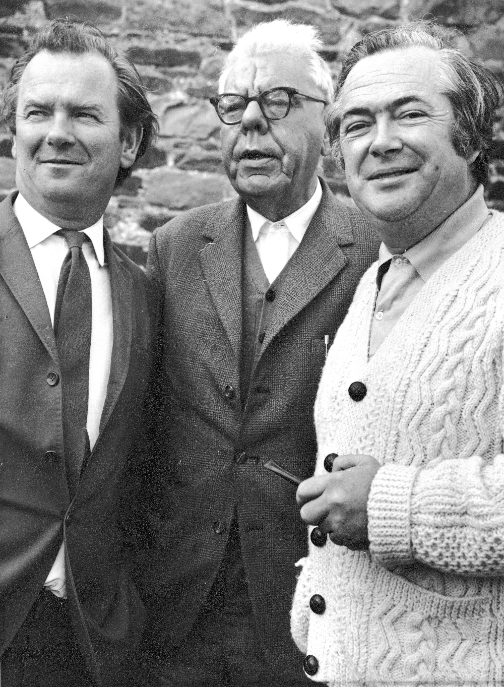 Photograph of Con Howard, Máirtín Ó Cadhain and Dr Seán J. White